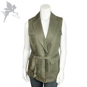 NWOT BANANA REPUBLIC Linen blend belted vest